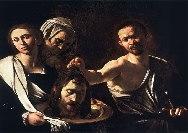 Caravaggio, Michelangelo Merisi da: Salome with the Head of John the Baptist. Fine Art Print/Poster. Sizes: A4/A3/A2/A1 (002070)